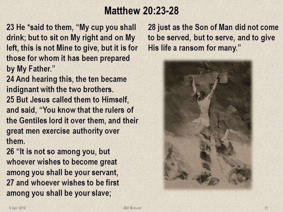 Matthew 20:23-28