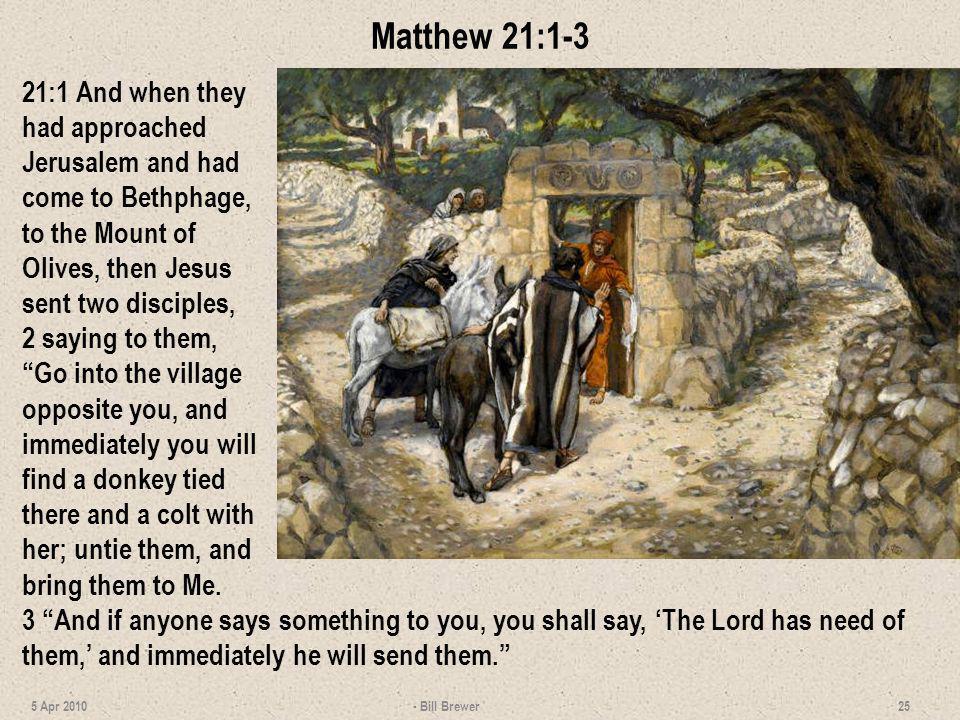 Matthew 21:1-3