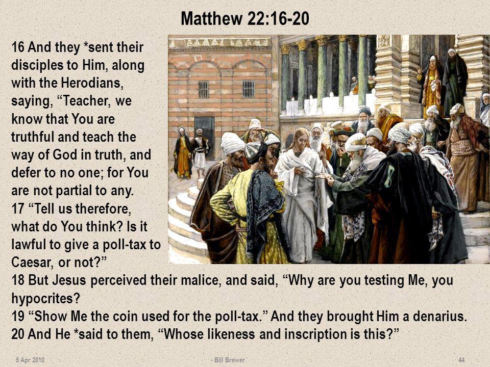 Matthew 22:16-20
