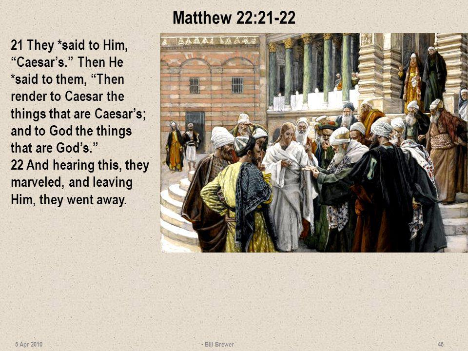 Matthew 22:21-22