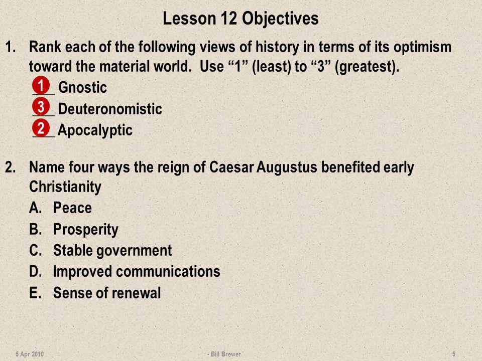Lesson 12 Objectives