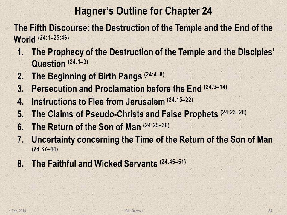 Hagner's Outline for Chapter 24