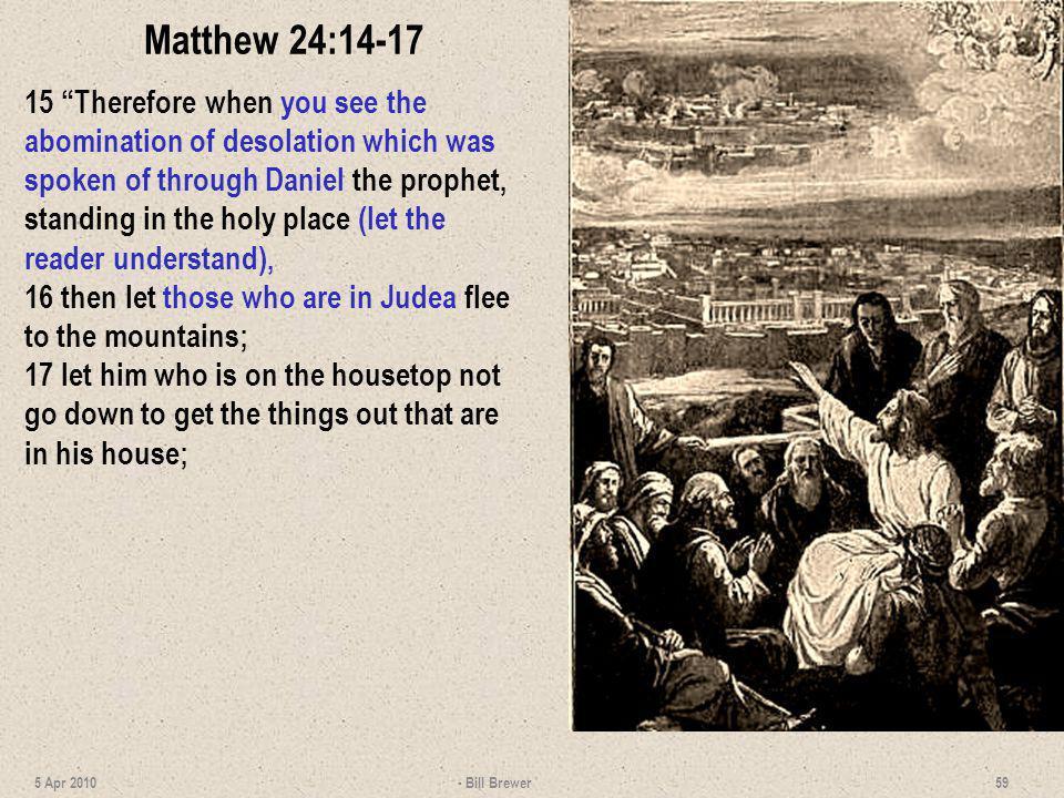 Matthew 24:14-17