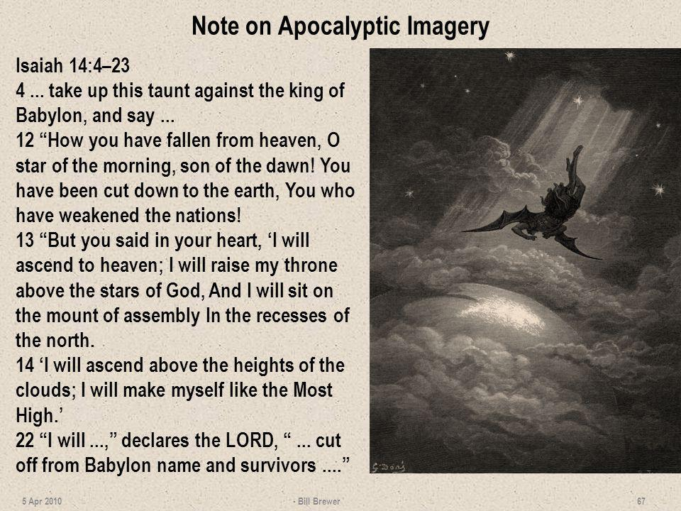 Note on Apocalyptic Imagery