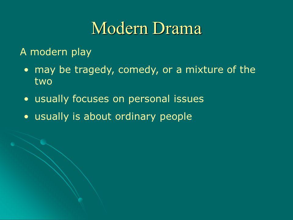 Modern Drama A modern play