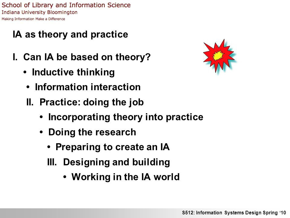 IA as theory and practice