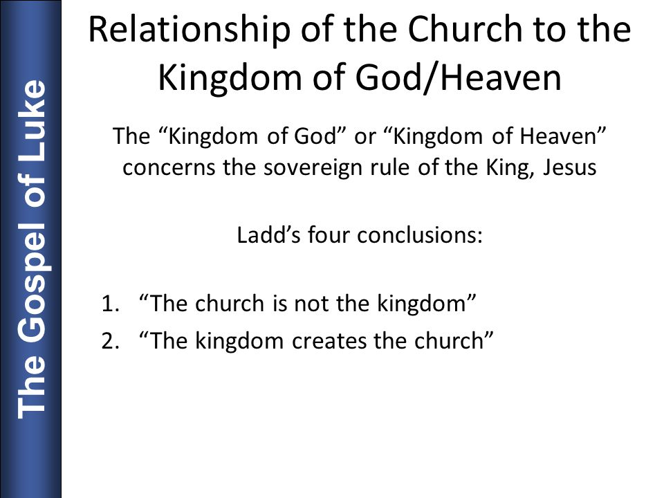 Relationship of the Church to the Kingdom of God/Heaven