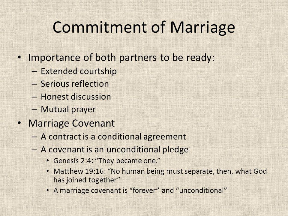 Commitment of Marriage