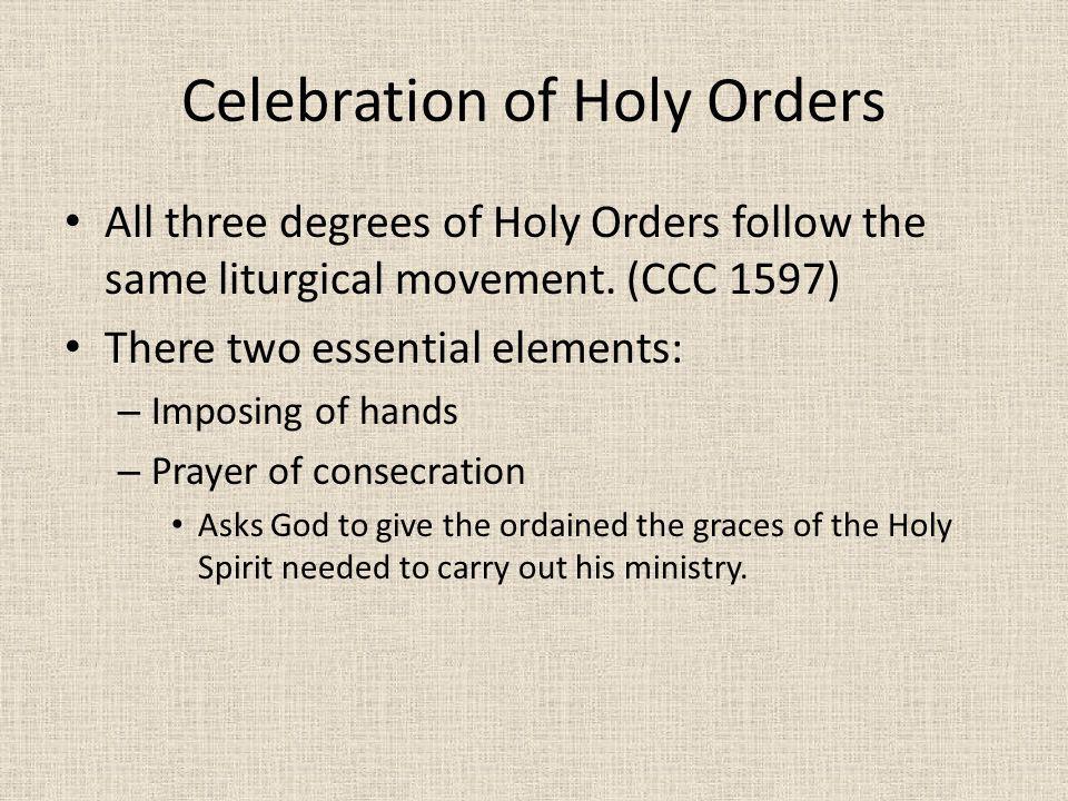 Celebration of Holy Orders