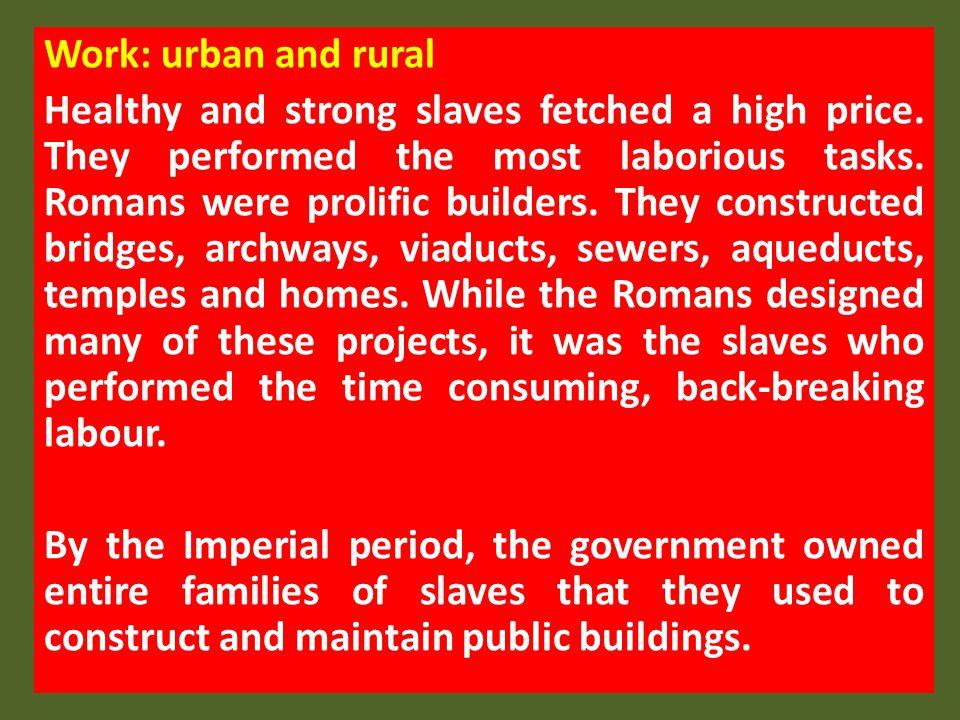 Work: urban and rural