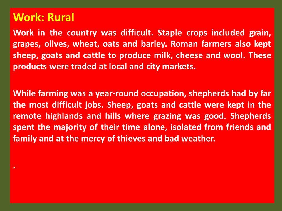 Work: Rural