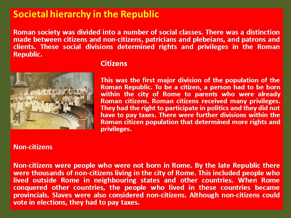 Societal hierarchy in the Republic