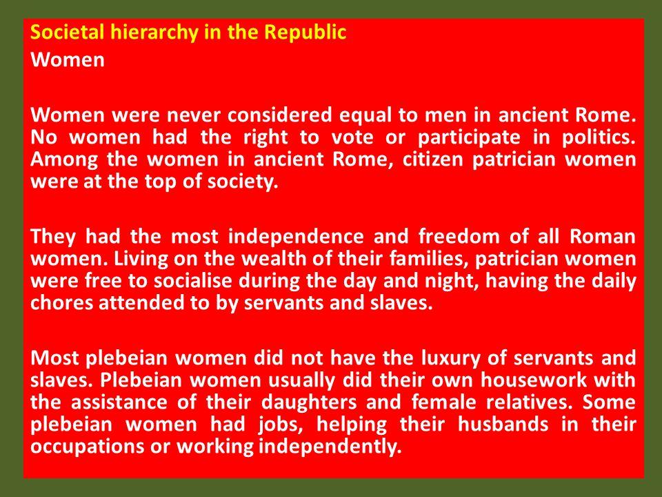 Societal hierarchy in the Republic