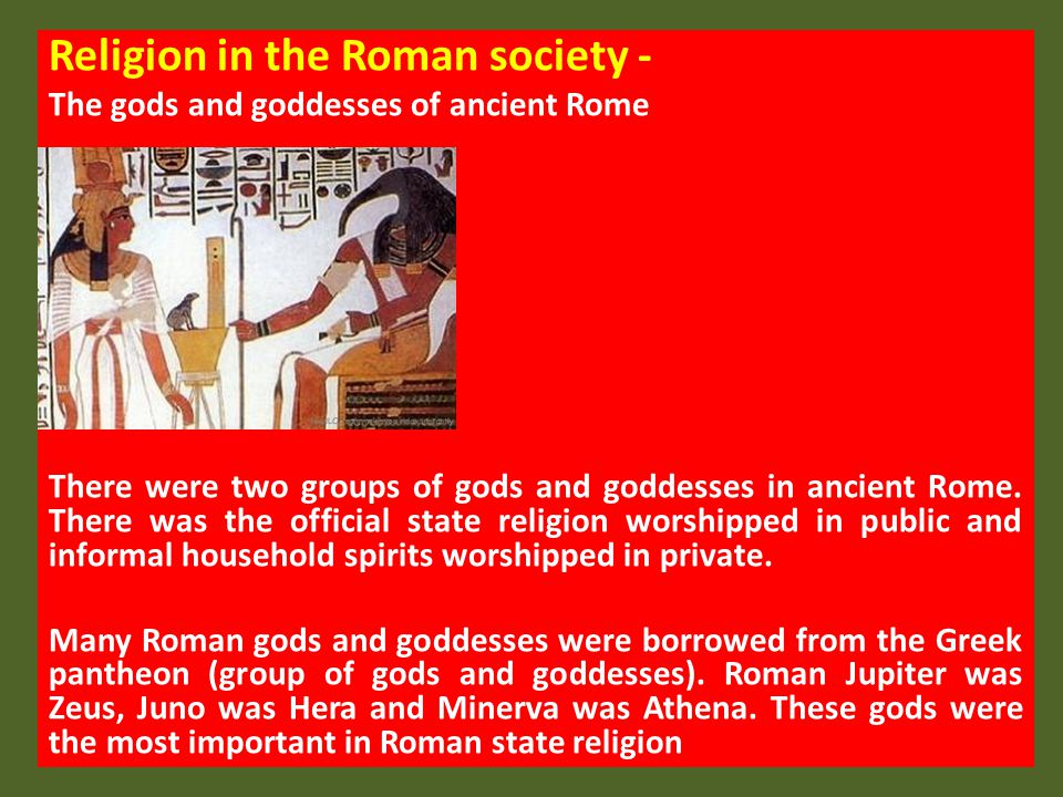 Religion in the Roman society -