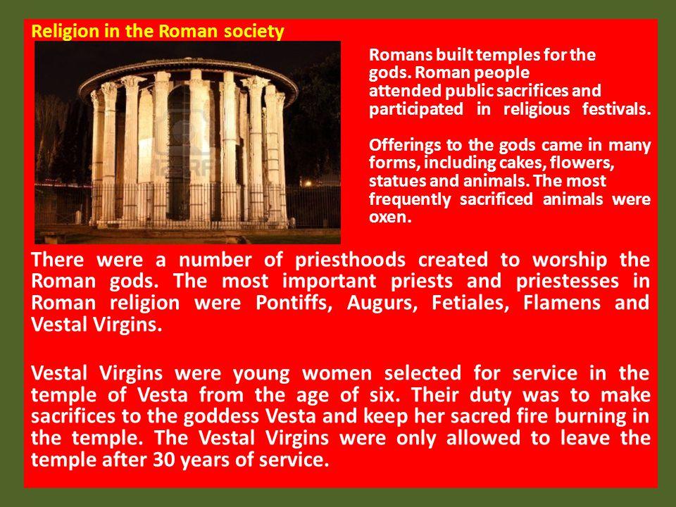 Religion in the Roman society