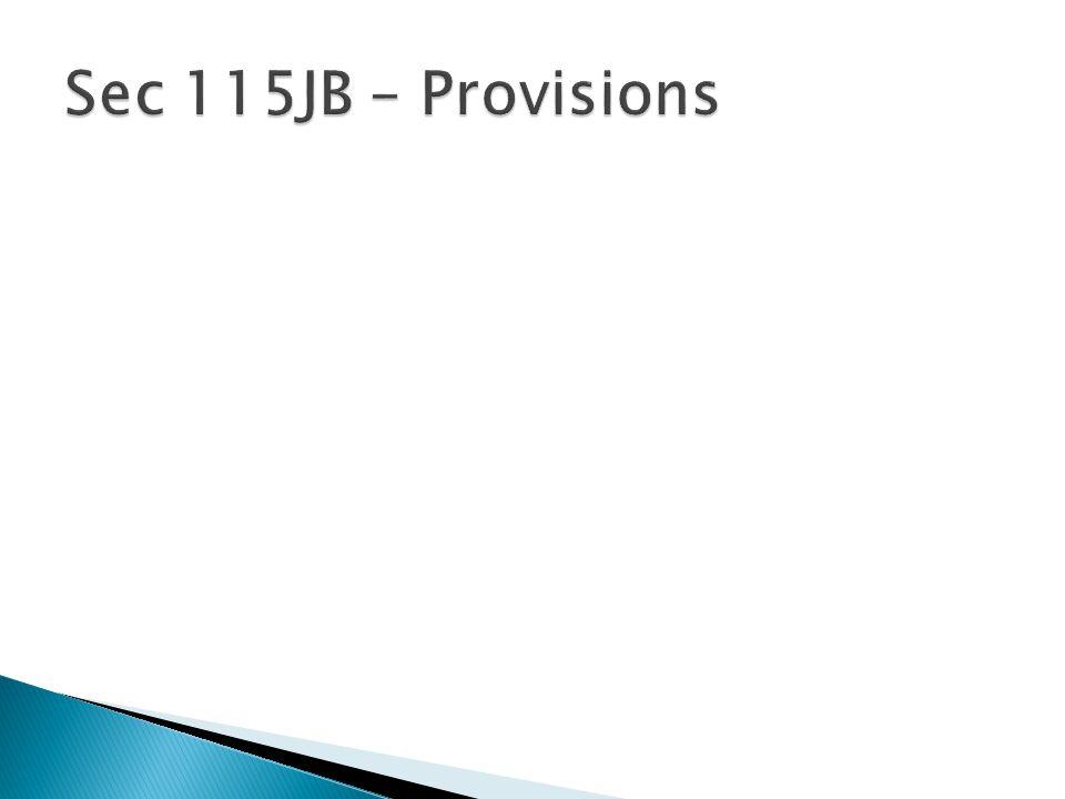 Sec 115JB – Provisions