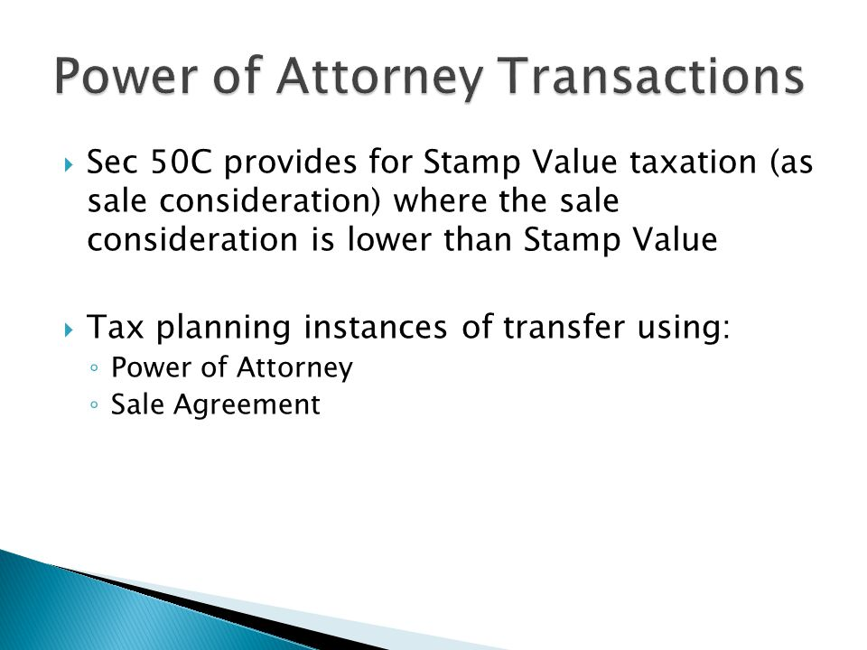 Power of Attorney Transactions