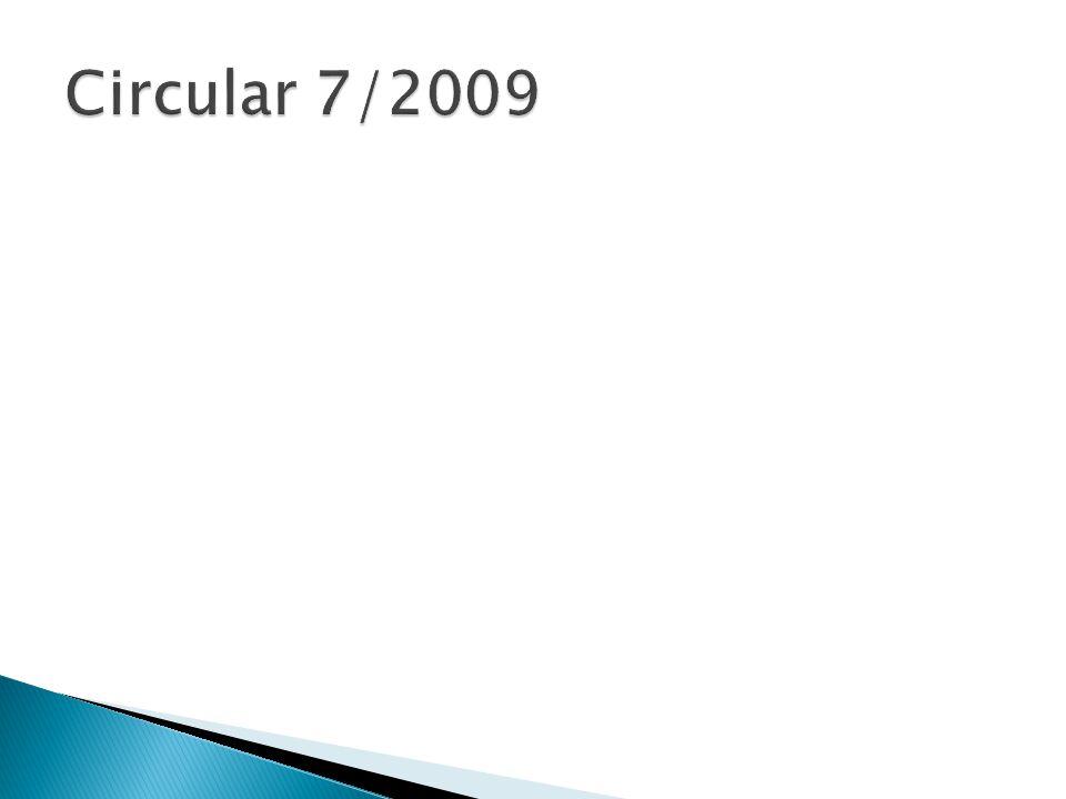 Circular 7/2009