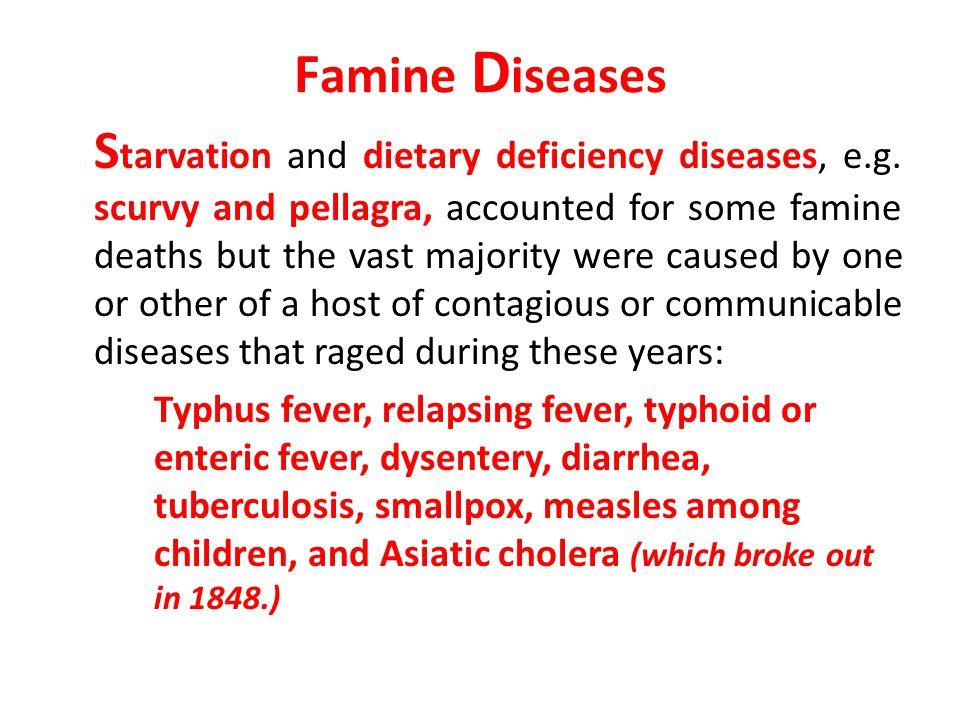 Famine Diseases