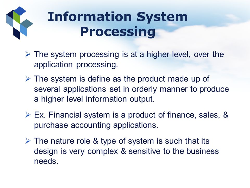 Information System Processing