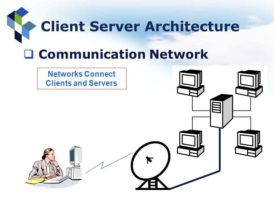 Client Server Architecture Networks Connect Clients and Servers