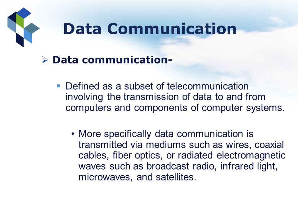 Data Communication Data communication-