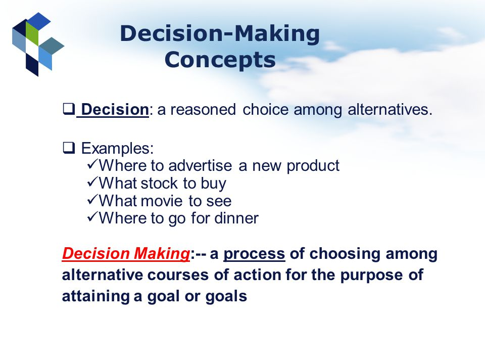 concepts of decision making •shared decision making (sdm) became much debated in the last decades of the  20th century •four steps can be distinguished anad our paper provides.