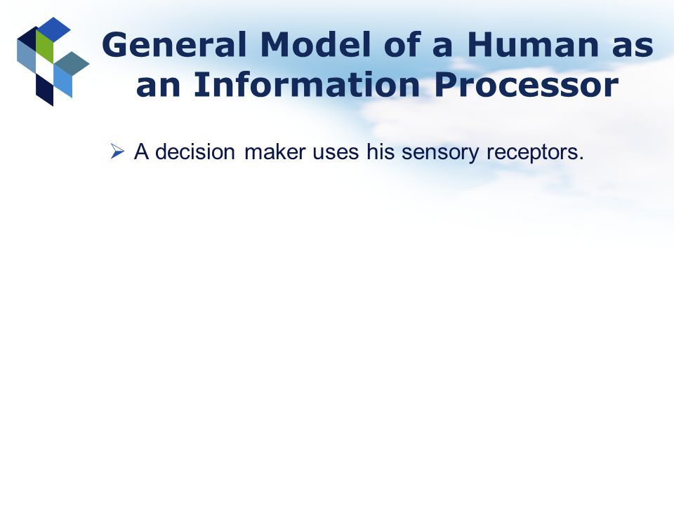 General Model of a Human as an Information Processor
