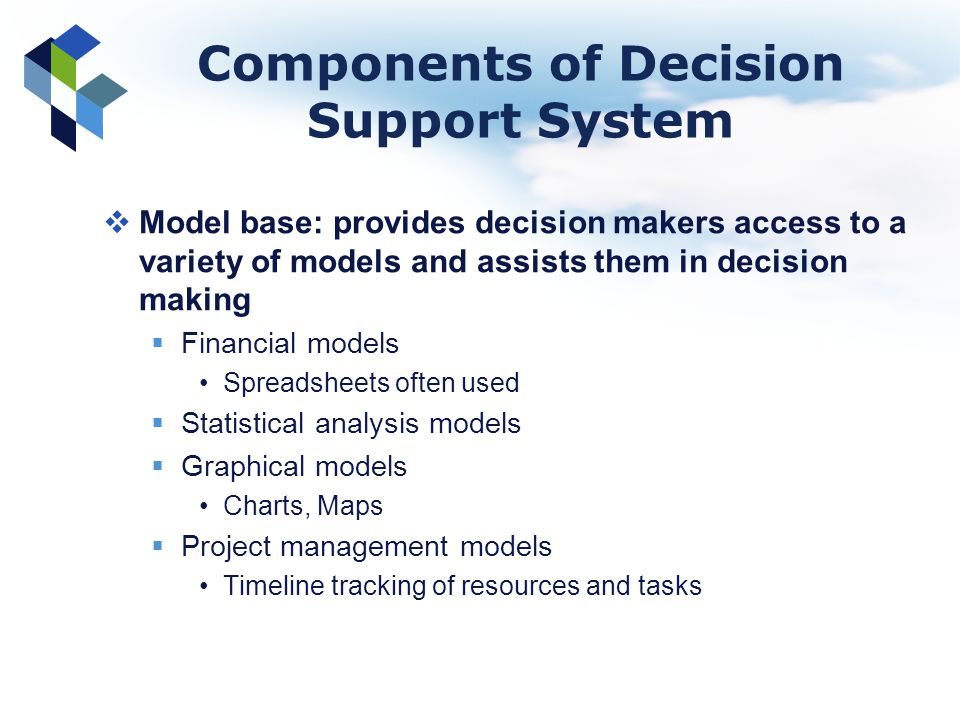 Components of Decision Support System