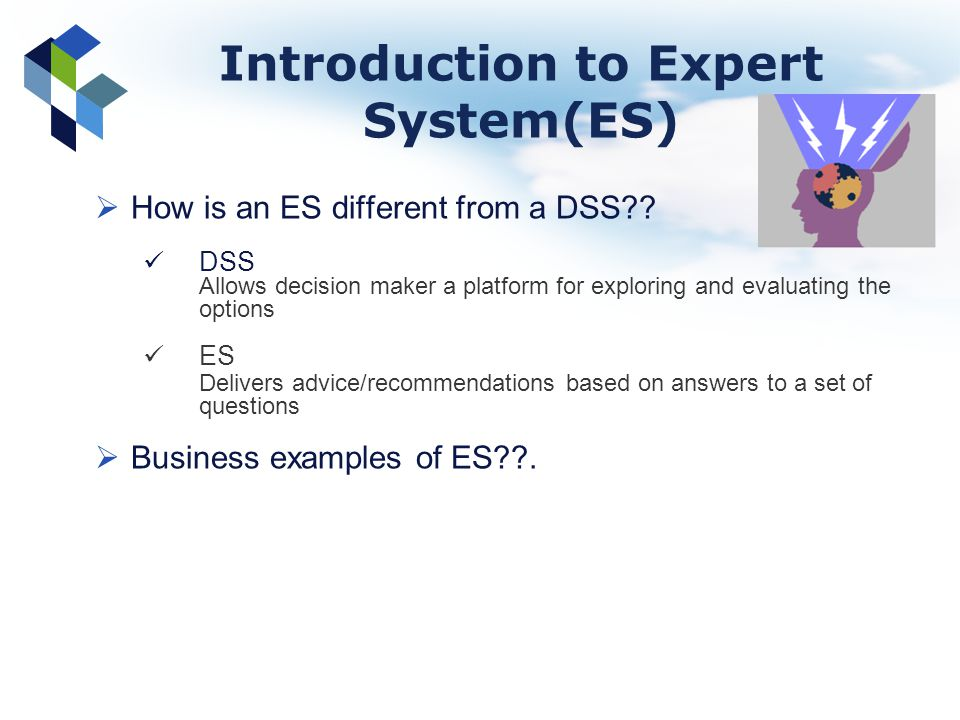 Introduction to Expert System(ES)