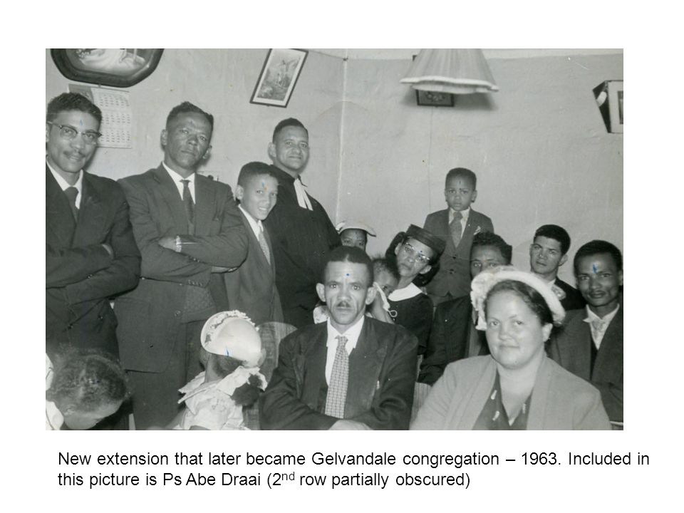New extension that later became Gelvandale congregation – 1963