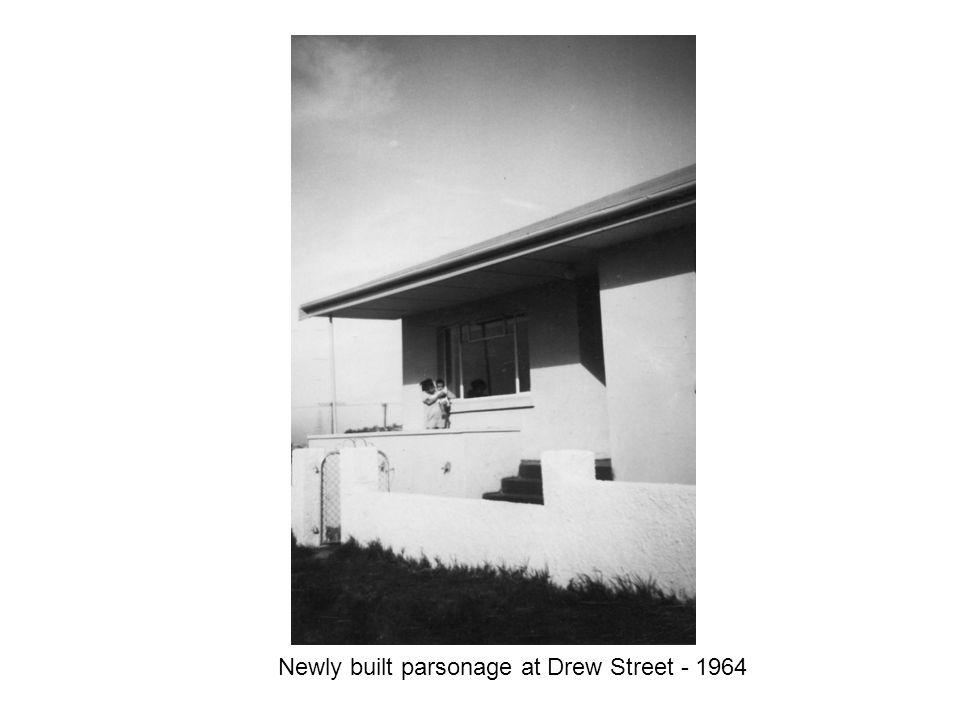 Newly built parsonage at Drew Street - 1964