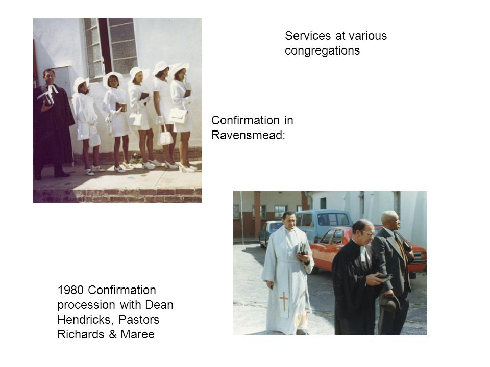 Services at various congregations