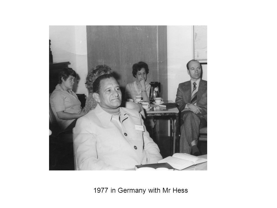 1977 in Germany with Mr Hess