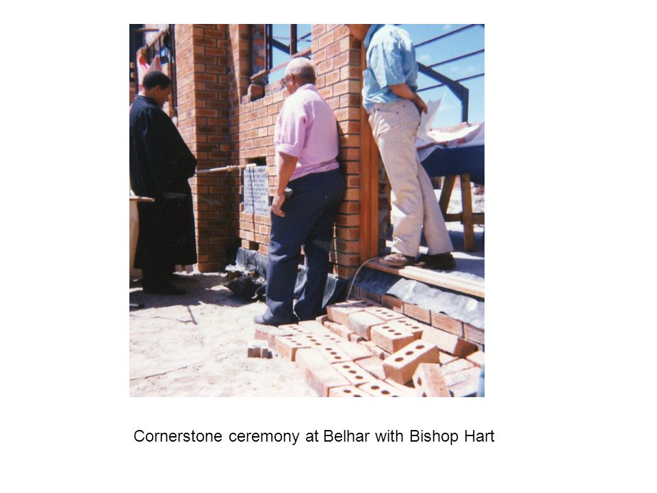 Cornerstone ceremony at Belhar with Bishop Hart