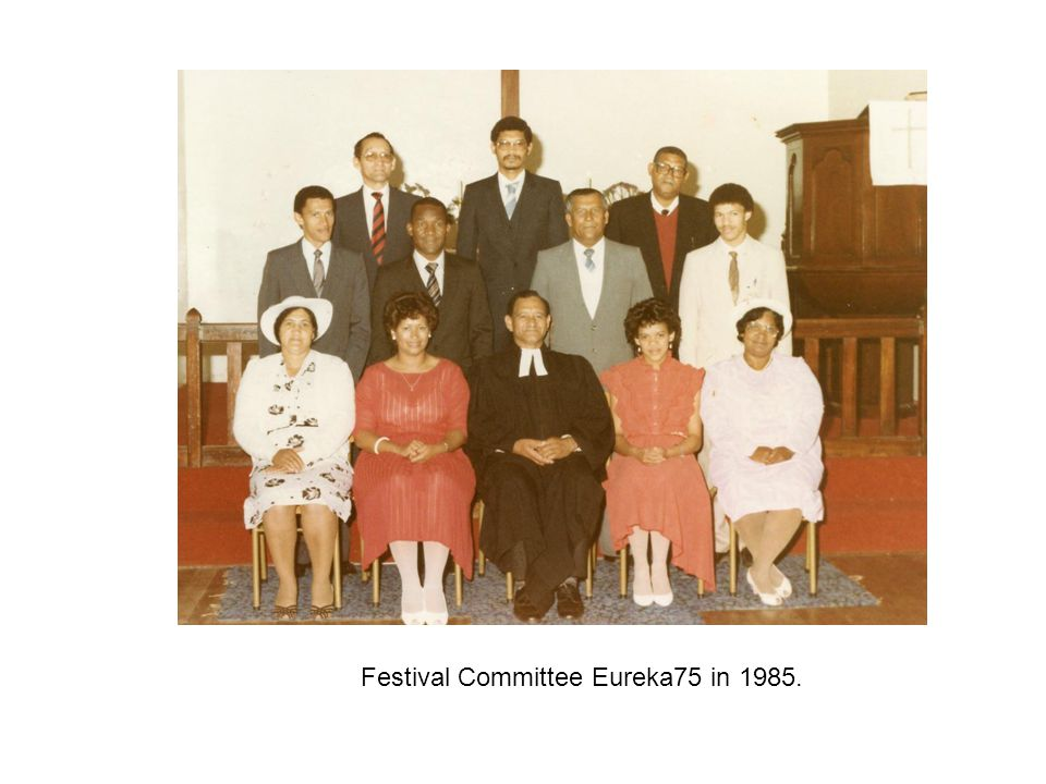 Festival Committee Eureka75 in 1985.