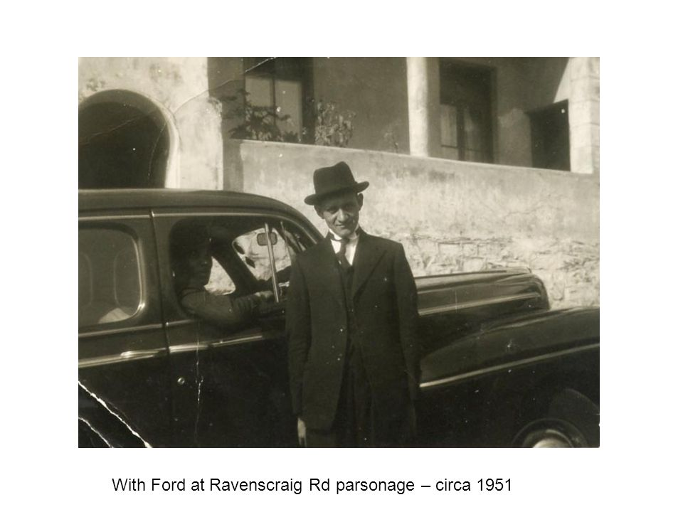 With Ford at Ravenscraig Rd parsonage – circa 1951