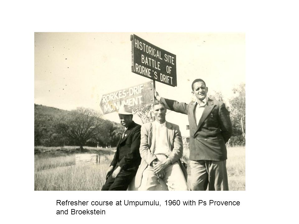 Refresher course at Umpumulu, 1960 with Ps Provence and Broekstein