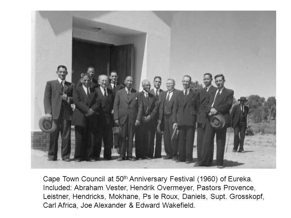 Cape Town Council at 50th Anniversary Festival (1960) of Eureka