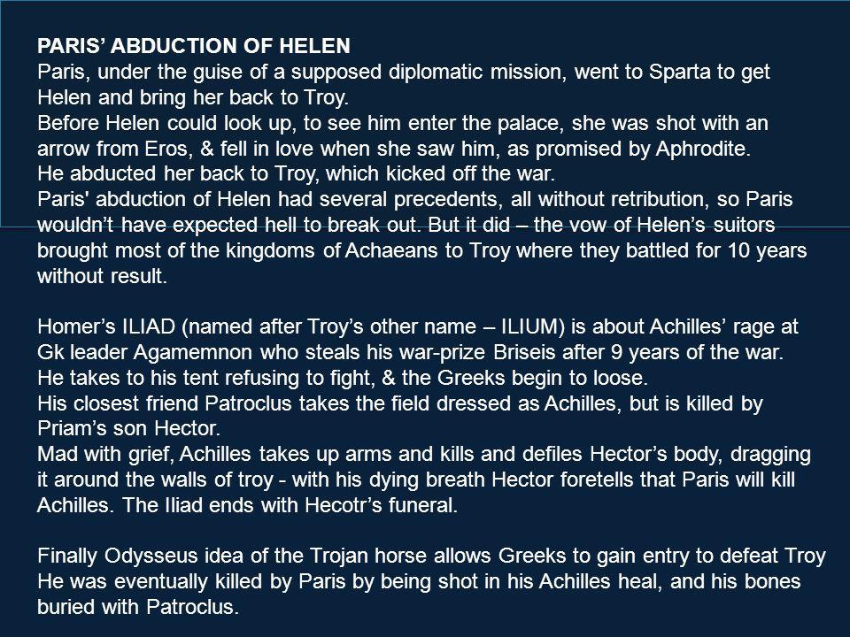 PARIS' ABDUCTION OF HELEN