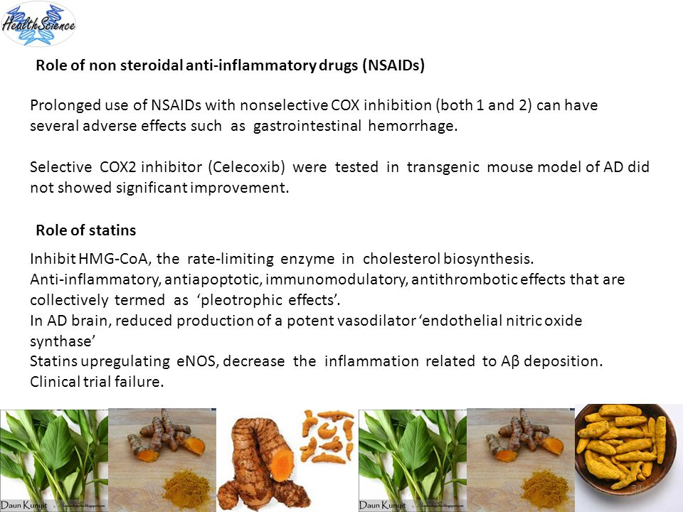 Role of non steroidal anti-inflammatory drugs (NSAIDs)
