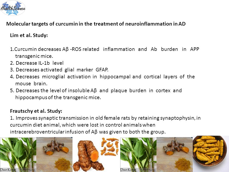 Molecular targets of curcumin in the treatment of neuroinflammation in AD