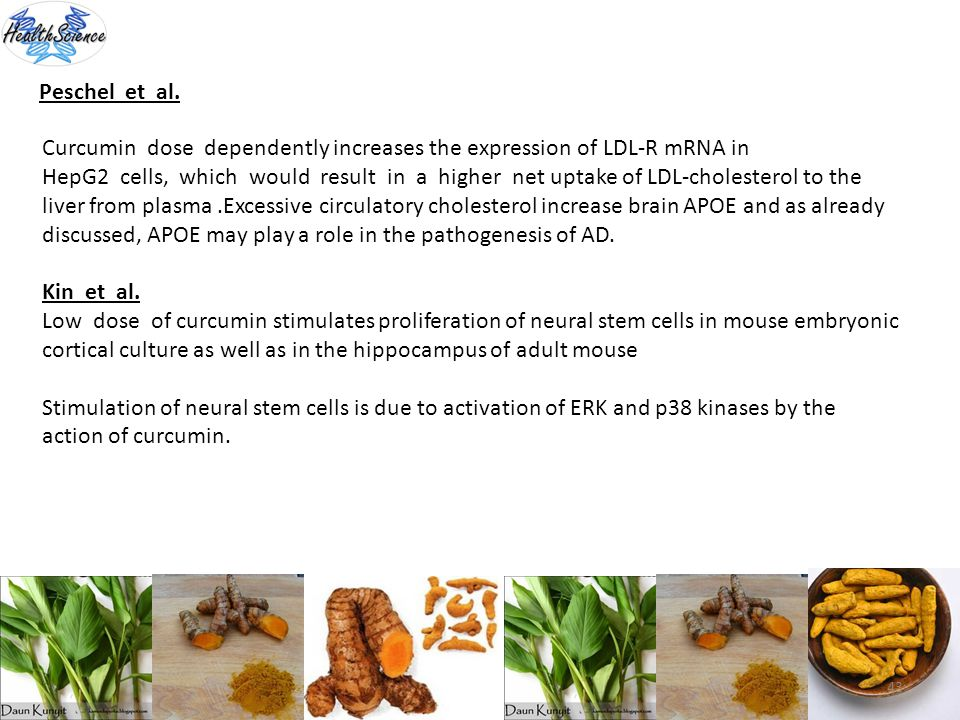 Peschel et al. Curcumin dose dependently increases the expression of LDL-R mRNA in.