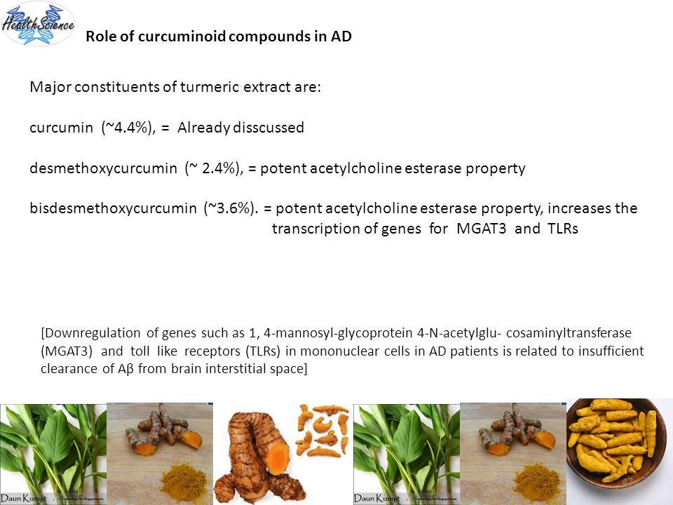 Role of curcuminoid compounds in AD