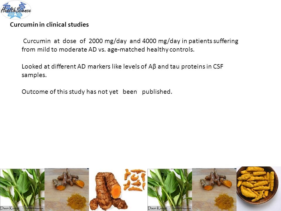 Curcumin in clinical studies