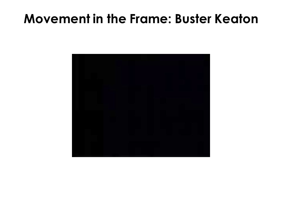 Movement in the Frame: Buster Keaton
