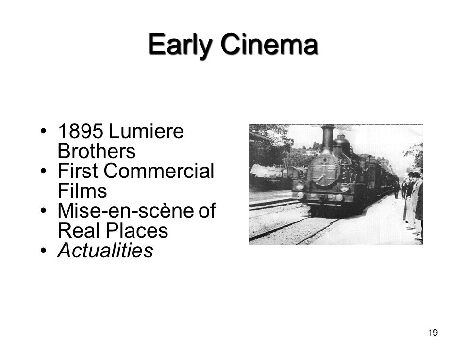 Early Cinema 1895 Lumiere Brothers First Commercial Films