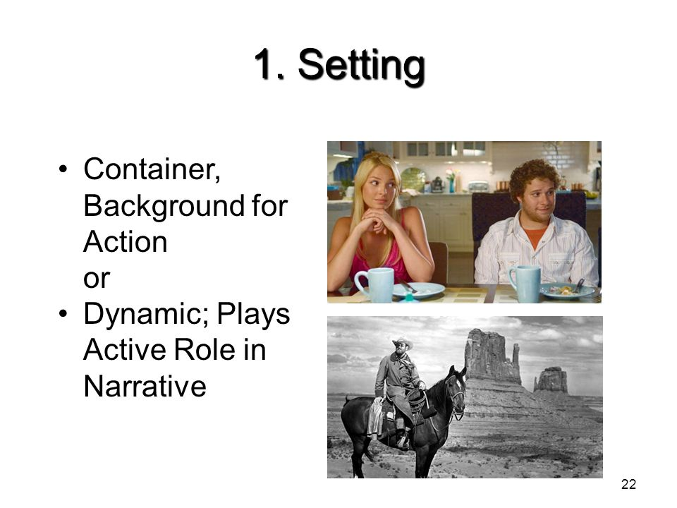 1. Setting Container, Background for Action or
