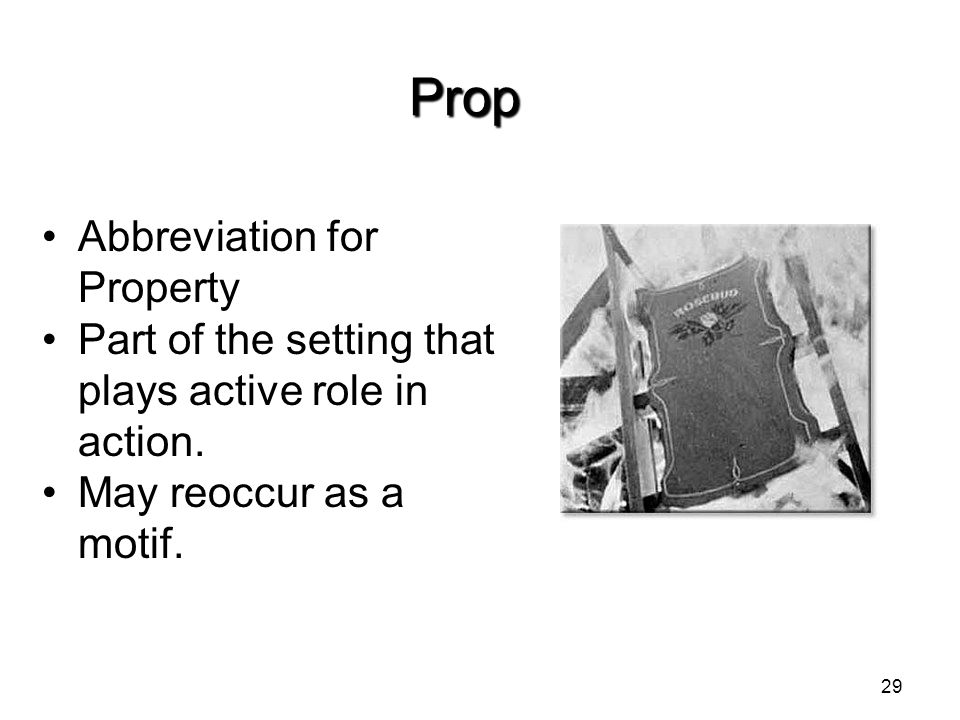 Prop Abbreviation for Property