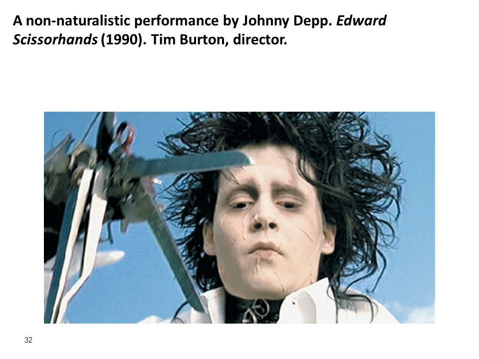 A non-naturalistic performance by Johnny Depp